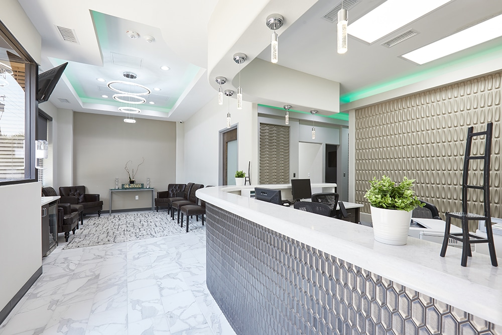 Bobby Jivnani Plano Dental attention to detail in ambient lighting during design of their new Plano, TX clinic.